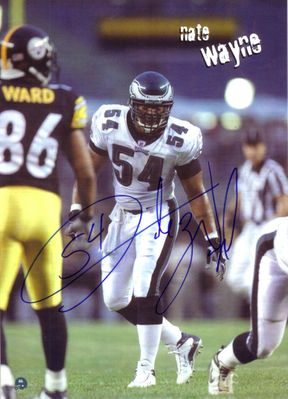 Nate Wayne autographed Philadelphia Eagles 8x10 photo