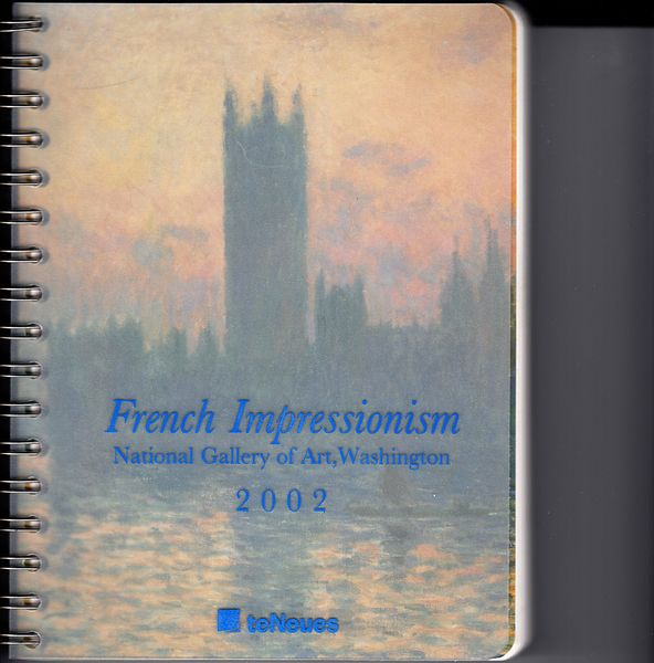 National Gallery of Art French Impressionism 2002 desk calendar MINT