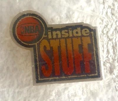 NBA Inside Stuff logo vintage early 1990s lapel pin MINT