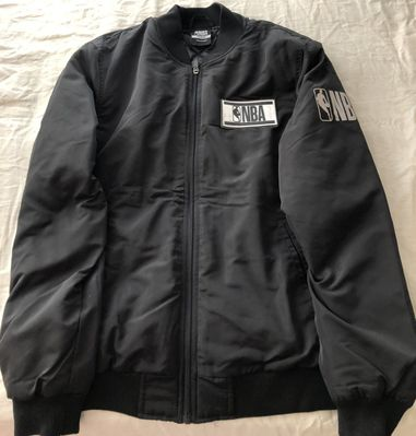 NBA Logo Net-Dry quilted insulated black jacket men's size MEDIUM (BRAND NEW WITH TAGS)
