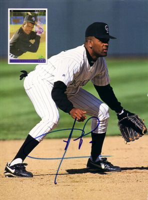 Neifi Perez autographed Colorado Rockies Beckett magazine back cover photo