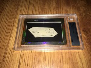 Nelson Eddy 2013 Leaf Masterpiece Cut Signature certified autograph card 1/1 JSA