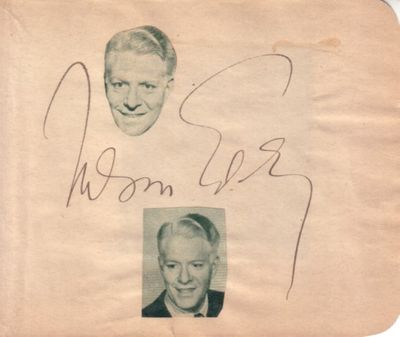 Nelson Eddy autographed autograph album or book page