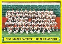 New England Patriots 1985 AFC Champions 1986 Topps wax box card