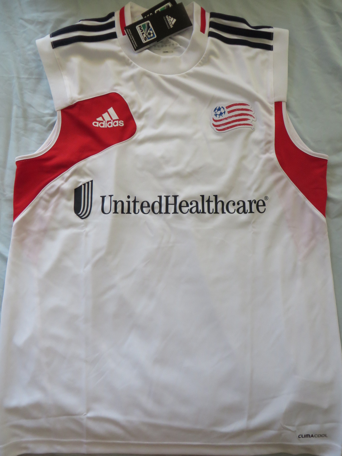 82d9e7545 New England Revolution Adidas sleeveless MLS training jersey NEW WITH TAGS