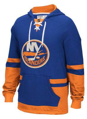 New York Islanders pullover CCM mock jersey blue hoodie or hooded sweatshirt NEW WITH TAGS