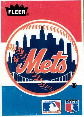New York Mets logo 1986 Fleer Sluggers vs. Pitchers box bottom card RARE