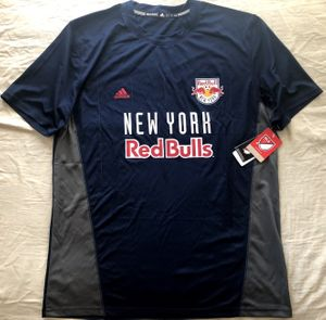 New York Red Bulls authentic Adidas navy blue replica MLS Climalite jersey BRAND NEW WITH TAGS