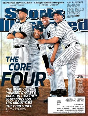 New York Yankees Core Four 2010 Sports Illustrated (Derek Jeter Mariano Rivera)