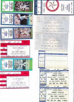 New York Yankees lot of 12 ticket stubs (Derek Jeter)