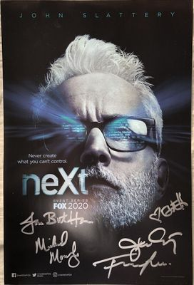 NEXT cast autographed 2019 Comic-Con poster (Fernanda Andrade Eve Harlow Michael Mosley John Slattery)