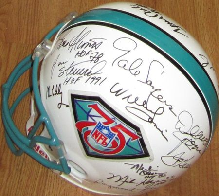 NFL 75th Anniversary Team autographed full size helmet Lance Alworth Jim Brown Dick Butkus Joe Montana Jerry Rice Johnny Unitas JSA