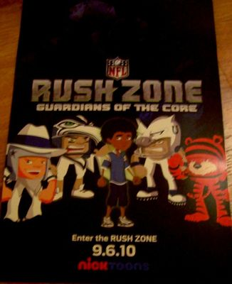 NFL Rush Zone 2010 San Diego Comic-Con 11x17 Nick Toons promo poster