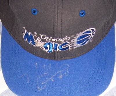 Nick Anderson autographed Orlando Magic cap or hat