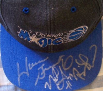 Nick Anderson Horace Grant Brian Shaw autographed Orlando Magic cap or hat