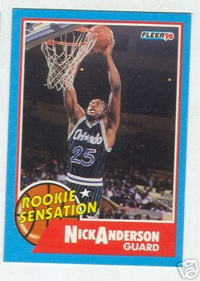 Nick Anderson Magic 1990-91 Fleer Rookie Sensation insert card #7