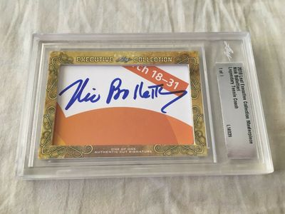 Nick Bollettieri 2018 Leaf Masterpiece Cut Signature certified autograph card 1/1 JSA