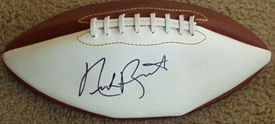 Nick Buoniconti autographed full size white panel football