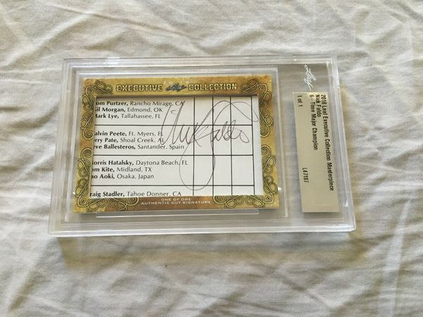 Nick Faldo 2018 Leaf Masterpiece Cut Signature certified autograph card 1/1 JSA