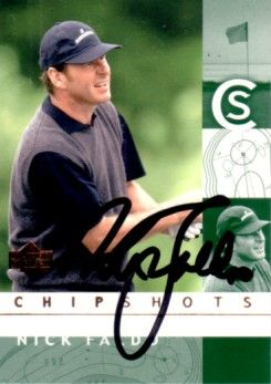 Nick Faldo autographed 2002 Upper Deck golf card