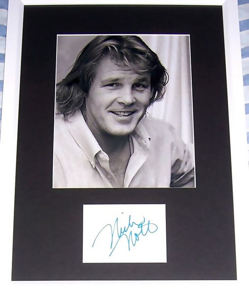 Nick Nolte autograph matted and framed with 8x10 photo