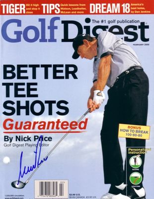 Nick Price autographed 2000 Golf Digest magazine