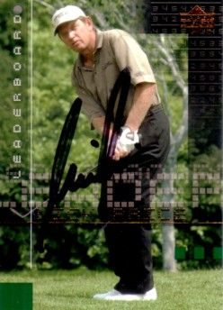 Nick Price autographed 2002 Upper Deck golf card