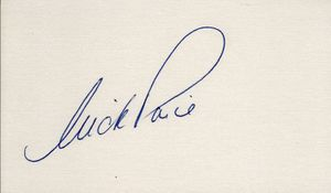 Nick Price autographed index card (full name signature)