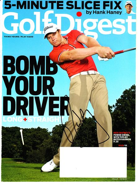 Nick Watney autographed 2012 Golf Digest magazine cover