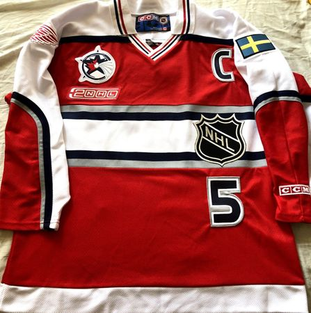 Nicklas Lidstrom 2000 NHL All-Star Game Detroit Red Wings authentic CCM stitched jersey