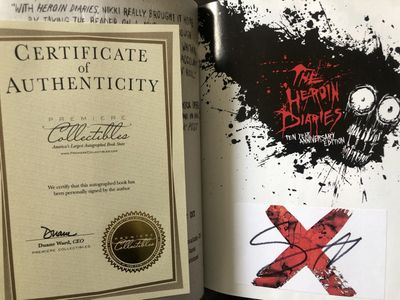 Nikki Sixx autographed The Heroin Diaries softcover book