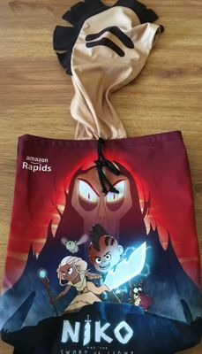 Niko and the Sword of Light 2017 Comic-Con promo backpack or tote bag with hood