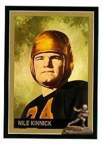 Nile Kinnick Iowa Hawkeyes 1939 Heisman Trophy winner card
