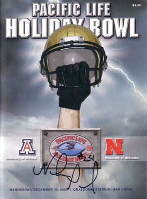Niles Paul autographed Nebraska Cornhuskers 2009 Holiday Bowl game program