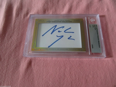 Noah Wyle 2013 Leaf Masterpiece Cut Signature certified autograph card 1/1 JSA ER Falling Skies