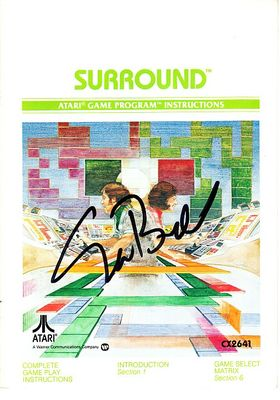 Nolan Bushnell autographed Atari 2600 Surround video game instruction booklet