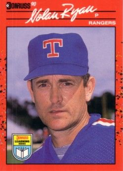 Nolan Ryan 1990 Donruss Learning Series card