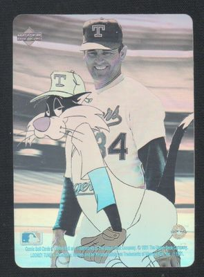 Nolan Ryan 1991 Upper Deck Looney Tunes Comic Ball hologram