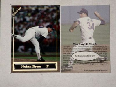 Nolan Ryan 1993 Spectrum promo card