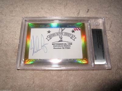 Nolan Ryan and Phil Niekro 2014 Leaf Masterpiece Cut Signature certified autograph card 1/1 JSA