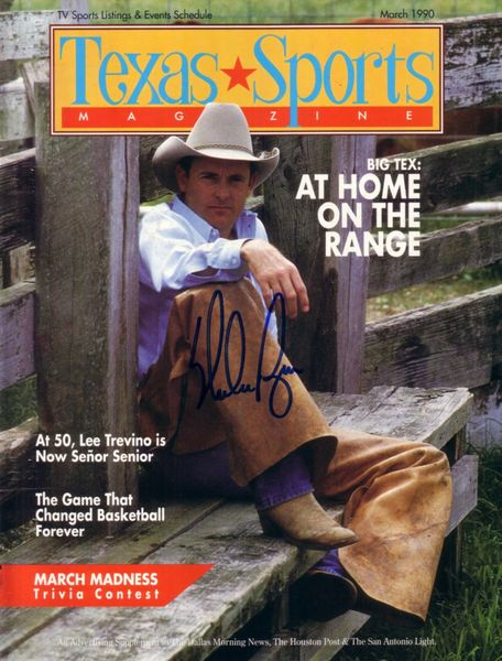Nolan Ryan autographed 1990 Texas Sports Magazine