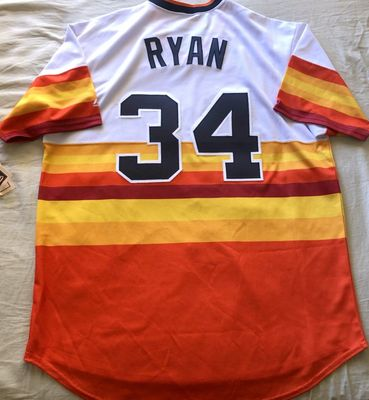 Nolan Ryan Houston Astros authentic Majestic Cool Base stitched throwback XL jersey NEW WITH TAGS