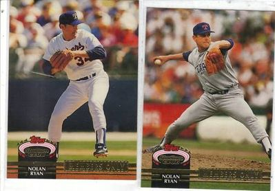Nolan Ryan Rangers 1992 Stadium Club Members Only 2 card set