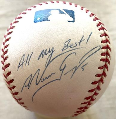 Nomar Garciaparra autographed MLB baseball inscribed All my Best!