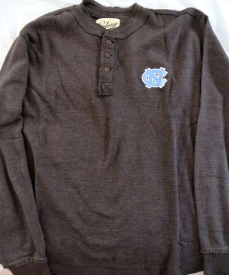 North Carolina Tar Heels long sleeve charcoal gray shirt NEW WITH TAGS