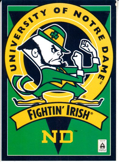 Notre Dame Fighting Irish logo 1995 TPS football card