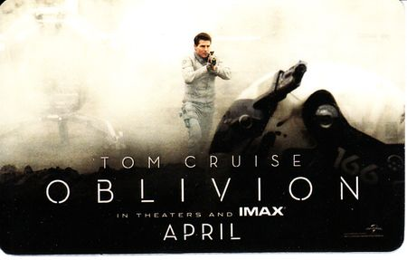 Oblivion movie 2013 Wondercon EXCLUSIVE promo card set (Tom Cruise Morgan Freeman)