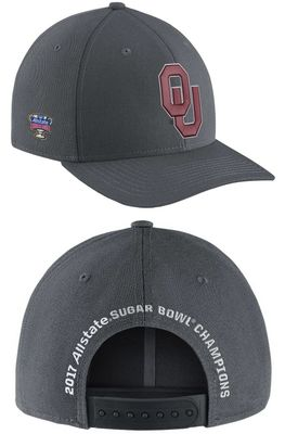 Oklahoma Sooners 2017 Sugar Bowl Champions Nike locker room snapback cap or hat NEW