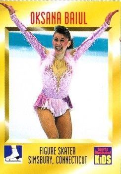 Oksana Baiul 1996 Sports Illustrated for Kids card