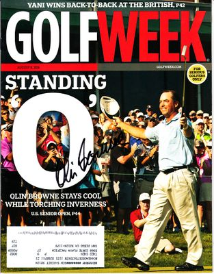 Olin Browne autographed 2011 U.S. Senior Open Golf Week magazine